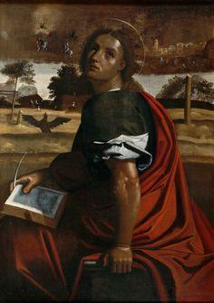 Ortolano (Giovanni Battista Benvenuti, dit) (d'après) Saint Jean l'Evangéliste à Patmos, 16th century