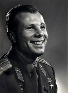 Yuri Gagarin (1934-1968) -  Soviet pilot and cosmonaut. He was the first human to journey into outer space, when his Vostok spacecraft completed an orbit of the Earth on 12 April 1961. Photo Yousuf Karsh