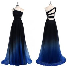 Chiffon Cheap One Off shoulder Gradient Popular Custom Unique Pretty Prom Dresses The dress is fully lined, 4 bones in the bodice, chest pad in the bust, lace up back or zipper back are Ombre Prom Dresses, Pretty Prom Dresses, Unique Prom Dresses, Prom Dresses Online, Cheap Dresses, Homecoming Dresses, Formal Dresses, Chiffon Dresses, Bridesmaid Dresses