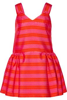 DELPOZO Exclusive Striped jacquard mini dress | NET-A-PORTER