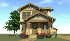 Ideas For House Plans Bungalow Craftsman Photo Galleries Narrow Lot House Plans, Craftsman Style House Plans, Craftsman Houses, Craftsman Bungalows, New Homes, Tiny Homes, Architecture Design, How To Plan, House Styles