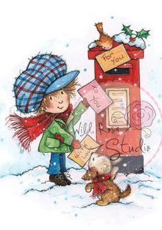 Wild Rose Studio Ltd. Clear Stamp - Antoine At Postbox