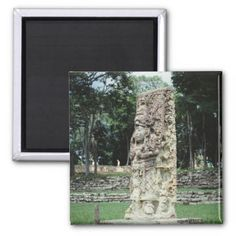 #photo - #Mayan Ruins Photo Designed Square Color Magnet