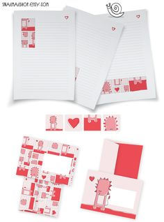 Red Lion Stationery-set with Writing Paper, Envelopes and Stickers for Snailmail (printable) https://www.etsy.com/listing/114388817/red-lion-stationery-set-with-writing