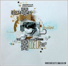 Page Petit Coeur de Lolotte pour le challenge de novembre de Fil&Scrap avec un sketch de Lalaith