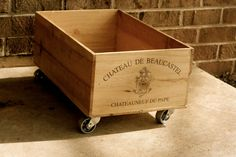 Wheeled Wine Crate by hammerandpaint