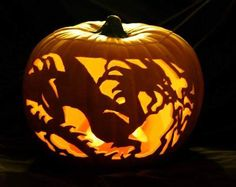 Monsterous Dragon Made Out Of Pumpkin