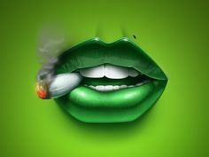 Weed Lips by Kovalev Slava