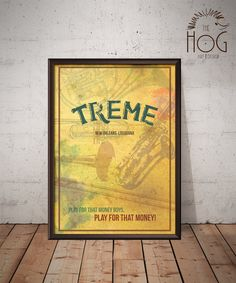 Treme - New Orleans - Unique Retro Poster by HogArtDesign on Etsy