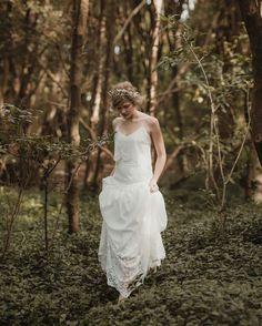 Into The Woods - Photography : Jessica Sim / Dresses: Rue de Seine / Make up, Hair: Natalie Dent / Florals: Leaf and Honey /