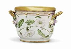 Flora Danica Prices   20TH CENTURY, UNDERGLAZE BLUE WAVE AND GREEN PRINTED MARKS, GREEN ...