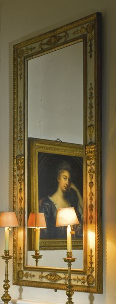 An Italian neo-classical cream painted and parcel-gilt pier glass mirror late 18th century   Lot   Sotheby's