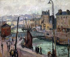 Othon Friesz (French, 1879-1949), The Havre, the Roy basin, N/D, Oil on canvas, Musée d'art moderne André-Malraux, Le Havre, France