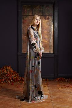 Floating leaves silk and nylon gown from HONOR's Pre-Fall 2013 Collection. Shop more HONOR looks at www.honornyc.com.