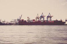 boats ships docks marina harbor harbour pier cargo cranes industrial transportation shipping water