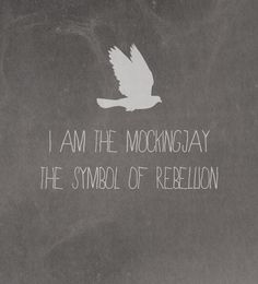 I am the mockingjay. The symbol of rebelion