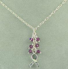 Purple Ribbon necklace