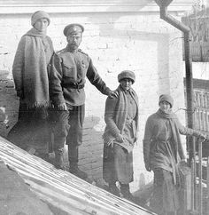 """In captivity at Tobolsk in the winter of 1917- 1918. A guard of the Romanovs commented """"All my evil thoughts about the tzar disappeared after I had stayed a certain time amongst the guards...I began to feel entirely different towards them...to pity them as human beings...I kept saying to myself, 'Let them escape...do something to let them escape.'"""""""