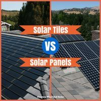 """Solar Tiles v Solar Panels: """"Tiles, technically speaking, are photovoltaic cells that mimic traditional roof shingles. They first became commercially available in 2005; at that time, they were more expensive than panels, but recent market forces have driven down the cost, so now the prices are equivalent."""" - that's in the US, of course.   Century Roof & Solar"""