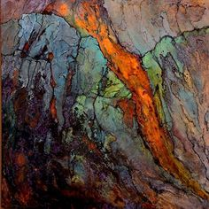 Copper Vein,  082516 by Carol Nelson mixed media ~ 36 inches x 36 inches