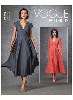 Miss Dress, The Dress, Dress Skirt, Baby Dress, Patron Butterick, Vogue Sewing Patterns, Vogue Dress Patterns, Dress Making Patterns, Soft Pants