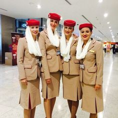 me and my fellow cabin crews about to go on duty!