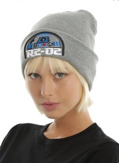 Star Wars Disney R2D2 Embroidered Cuff Knit Watchman Beanie Hat Ski R2-D2  NWT! dfc942da4c9a