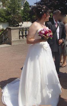Robe de mariée Oréa Sposa d'occasion avec jupon et étole - Hauts de Seine
