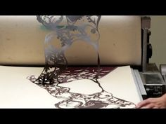 ▶ Art Attack // FALL Timelapse Printmaking by Sonia Romero - YouTube, Female figure and leaves print