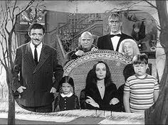 The Addams family started out as a cartoon created by Charles Addams. Just like the Munsters it was a satirical inversion of the ideal American family. Filmed in black and white it too became an iconic TV series running from 1964-66 alongside The Munsters. Gomez, Morticia, Uncle fester, Lurch, Grandmama, Wednesday, Pugsley, Cousin Itt and Thing.