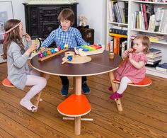 A wonderful round table with seats for small and bigger kids by timkid. Perfect to let them play together.