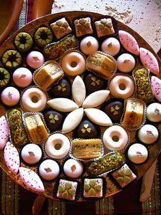 Diwali Sweets Indian New Year begins November Indian Dessert Recipes, Indian Sweets, Patisserie Fine, Tunisian Food, Dessert Platter, Arabic Sweets, Food Platters, International Recipes, Cake Pops