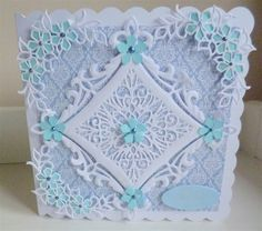 Sue Wilson, Heraldic square and petite peony clusters by mrsjane | docrafts.com                                                                                                                                                      More