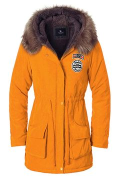 028eb70bef3 Escalier Women`s Parkas Jacket Faux Fur Lined Warm Hooded Winter Coats  #fashion #
