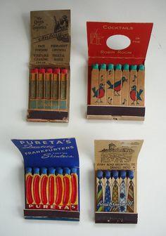 Playing With Matches. Vintage matchbook printed sticks make me smile. Diy Vintage, Vintage Love, Vintage Designs, Nice Designs, Vintage Graphic, Vintage Style, Vintage Packaging, Brand Packaging, Packaging Design