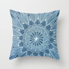 Snowtangle Throw Pillow by ArtLovePassion - $20.00
