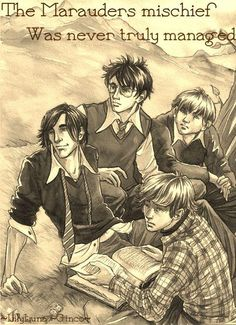 I love this because they're all just hanging out and Lupin's reading a book and basically being me. <3