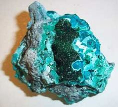 Chrysocolla ruw, Mineralenwinkel De Kristalijn, Zuideinde24, Meppel (Drenthe)