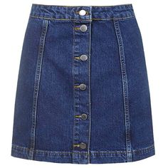 Button Front Denim Skirt   StyleCaster