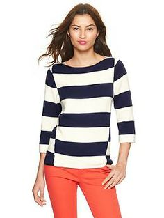 Mix-stripe boatneck sweater | Gap