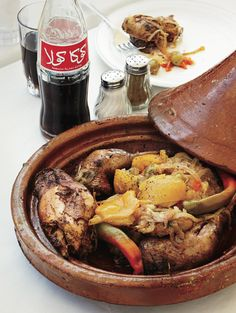 #EatLikeALocal: find this chicken tagine, a whole country #chicken cooked on smoldering coals, at Al Baraka's in #Marrakesh, a 20-minute hop from town along the old Fez route.