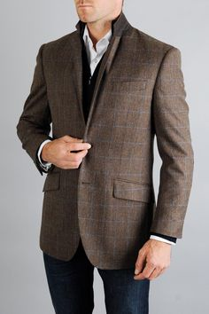 Brown Herringbone...it's the new grey!