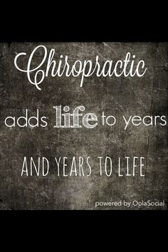 Realizing you don't just get adjusted when you feel in poor shape. Maintenance adjustment is extremely beneficial. #chiropractic