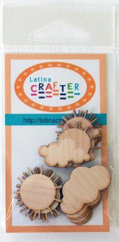 """Sol y nubes """"Wood Veneers"""" - Latina Crafter"""