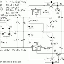0-30V / 5A Adjustable Symmetrical Power Supply