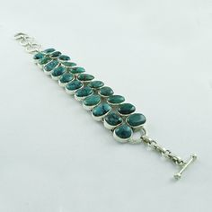 TURQUOISE STONE DESIGNER FASHION LOOK 925 STERLING SILVER BRACELET #SilvexImagesIndiaPvtLtd #Chain