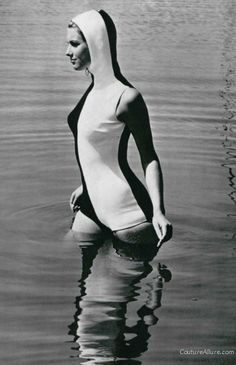 Nina Ricci hooded swimsuit, 1966. Who does not want a hooded swimsuit sometimes!!