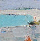 "Ocean Abstract by Sandy Ostrau, 8""x8"""