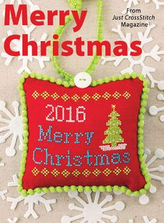 Merry Christmas from the Jul/Aug 2016 issue of Just CrossStitch Magazine. Order a digital copy here: https://www.anniescatalog.com/detail.html?prod_id=132142