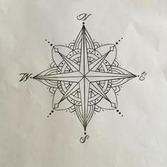 About mandala compass on pinterest mandala compass tattoo compass